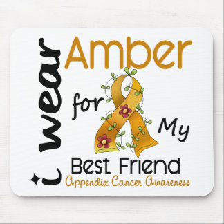 Appendix Cancer I Wear Amber For My Best Friend 43 Mouse Pad
