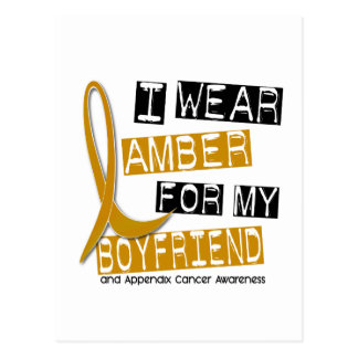 APPENDIX CANCER I Wear Amber For My Boyfriend 37 Postcard