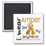 Appendix Cancer I Wear Amber For My Boyfriend 43 Refrigerator Magnets