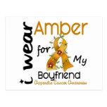 Appendix Cancer I Wear Amber For My Boyfriend 43 Postcard