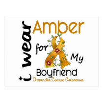 Appendix Cancer I Wear Amber For My Boyfriend 43 Postcard