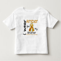 Appendix Cancer I Wear Amber For My Brother 43 Toddler T-shirt