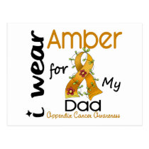 Appendix Cancer I Wear Amber For My Dad 43 Postcard