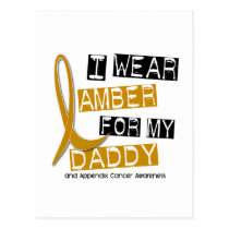 APPENDIX CANCER I Wear Amber For My Daddy 37 Postcard