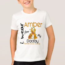 Appendix Cancer I Wear Amber For My Daddy 43 T-Shirt