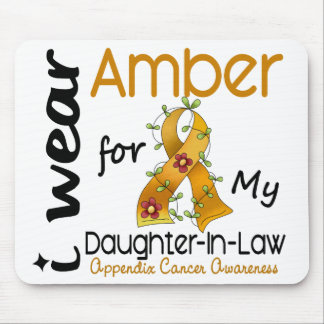 Appendix Cancer I Wear Amber For My Daughter-In-La Mouse Pad