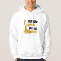 APPENDIX CANCER I Wear Amber For My Girlfriend 37 Hoodie