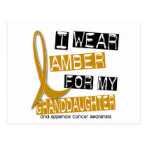 APPENDIX CANCER I Wear Amber For My Granddaughter Postcard