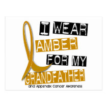 APPENDIX CANCER I Wear Amber For My Grandfather 37 Postcard