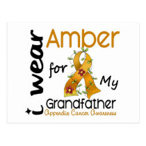 Appendix Cancer I Wear Amber For My Grandfather 43 Postcard
