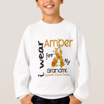 Appendix Cancer I Wear Amber For My Grandma 43 Sweatshirt