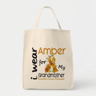 Appendix Cancer I Wear Amber For My Grandmother 43 Tote Bag