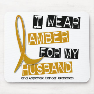 APPENDIX CANCER I Wear Amber For My Husband 37 Mouse Pad
