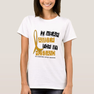 APPENDIX CANCER I Wear Amber For My Husband 37 T-Shirt