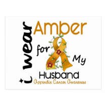 Appendix Cancer I Wear Amber For My Husband 43 Postcard