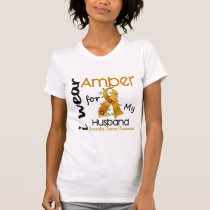 Appendix Cancer I Wear Amber For My Husband 43 T-Shirt