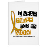 APPENDIX CANCER I Wear Amber For My Mom 37 Greeting Card