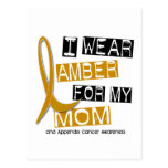 APPENDIX CANCER I Wear Amber For My Mom 37 Post Cards