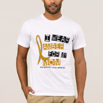 APPENDIX CANCER I Wear Amber For My Mom 37 T-Shirt