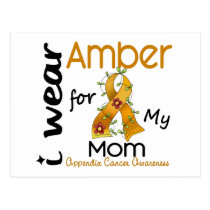 Appendix Cancer I Wear Amber For My Mom 43 Postcard