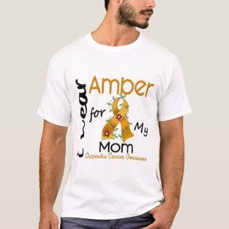 Appendix Cancer I Wear Amber For My Mom 43 T-Shirt