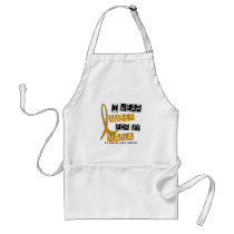 APPENDIX CANCER I Wear Amber For My Nana 37 Adult Apron