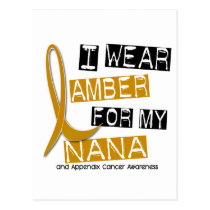 APPENDIX CANCER I Wear Amber For My Nana 37 Postcard