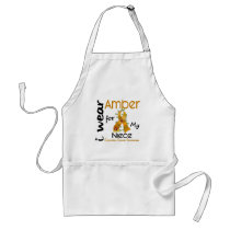 Appendix Cancer I Wear Amber For My Niece 43 Adult Apron