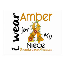 Appendix Cancer I Wear Amber For My Niece 43 Postcard