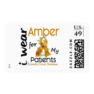 Appendix Cancer I Wear Amber For My Patients 43 Stamps