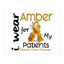 Appendix Cancer I Wear Amber For My Patients 43 Postcard