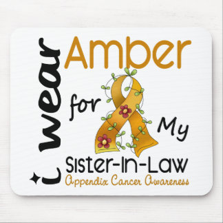 Appendix Cancer I Wear Amber For My Sister-In-Law Mouse Pad