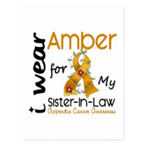 Appendix Cancer I Wear Amber For My Sister-In-Law Postcard