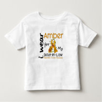 Appendix Cancer I Wear Amber For My Sister-In-Law Toddler T-shirt