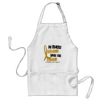 APPENDIX CANCER I Wear Amber For My Son 37 Adult Apron