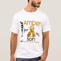 Appendix Cancer I Wear Amber For My Son 43 T-Shirt