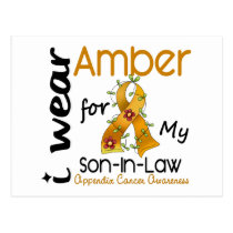 Appendix Cancer I Wear Amber For My Son-In-Law 43 Postcard