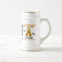 Appendix Cancer I Wear Amber For My Uncle 43 Beer Stein
