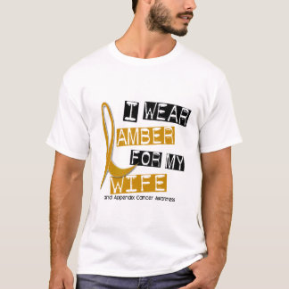 APPENDIX CANCER I Wear Amber For My Wife 37 T-Shirt
