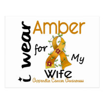 Appendix Cancer I Wear Amber For My Wife 43 Postcard