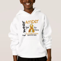 Appendix Cancer I Wear Amber For The Cure 43 Hoodie