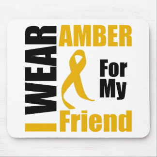 Appendix Cancer I Wear Amber Friend Mouse Pad