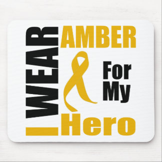 Appendix Cancer I Wear Amber Hero Mouse Pad