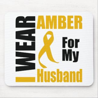 Appendix Cancer I Wear Amber Husband Mouse Pad