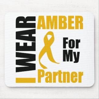 Appendix Cancer I Wear Amber Partner Mouse Pad