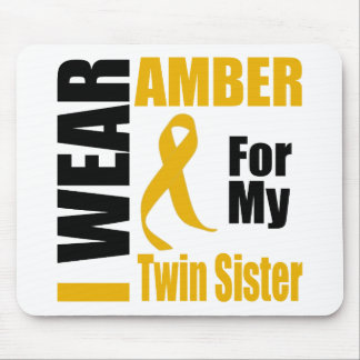 Appendix Cancer I Wear Amber Twin Sister Mouse Pad