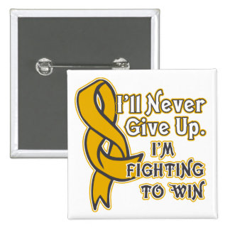 Appendix Cancer I'll Never Give Up Button