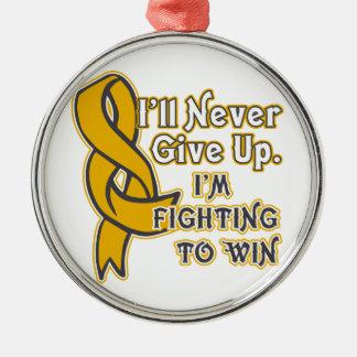 Appendix Cancer I'll Never Give Up Metal Ornament