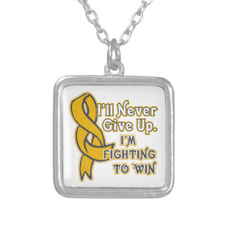 Appendix Cancer I'll Never Give Up Silver Plated Necklace