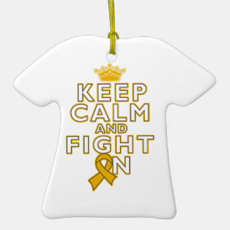 Appendix Cancer Keep Calm Fight On Double-Sided T-Shirt Ceramic Christmas Ornament